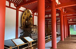 絹本著色恵日寺絵図(左)と徳一(右)